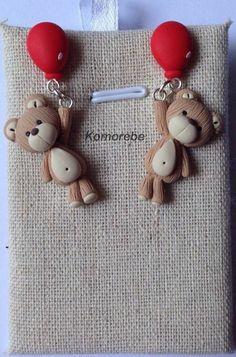 Lleva el oso de peluche con globos globo rojo por KOMOREBE15