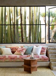 "Ralph Lauren Home Archives, ""Corral Canyon"", Living Room detail, Spring 2015; ""Organic materials, modern architectural shapes and southwestern-inspired textiles define this richly serene collection"""