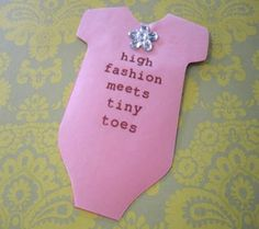 Use A Baby Snapsuit Template To Create A Handmade Baby Shower Invitation  From One Of The Five Designs Included In This Project By Cathie Fillian.