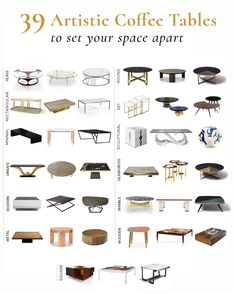 Playing a central role in a living space, coffee table can bring not only a practical but also an artistic value to your home interior. Whether it's a particular style you are looking for or a unique solution to make a bold statement, our ultimate guide will make it easy to pick a perfect coffee table for your taste. Explore our tips and ideas as well as a selection of artisanal coffee tables, handpicked and sorted by shape, style and material for your convenience. Interior Design Advice, Interior Design Inspiration, Interior Styling, Interior Decorating, Decorating Ideas, Coffee Table Vignettes, Coffee Table Styling, Coffee Tables, Living Room Accents