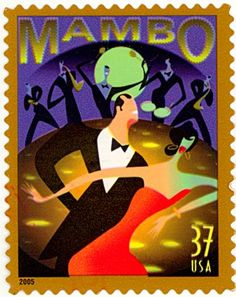 Mambo (dance),  is a Latin dance of Cuba  invented during the 1930s , a dance corresponding to mambo music.  United States of America stamp 2005