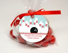 Personalized Bowling Favor Tag  DIY Printable by NHACreatives, $6.50