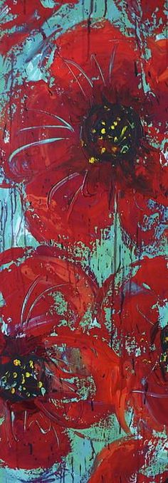 Flower Drawings Big and Rich By Julie Janney - Love this colour combo - Big And Rich Painting by Julie Janney Acrylic Flowers, Painting Flowers, Metal Tree Wall Art, Love Art, Painting Inspiration, Painting & Drawing, Abstract Art, Abstract Paintings, Canvas Paintings