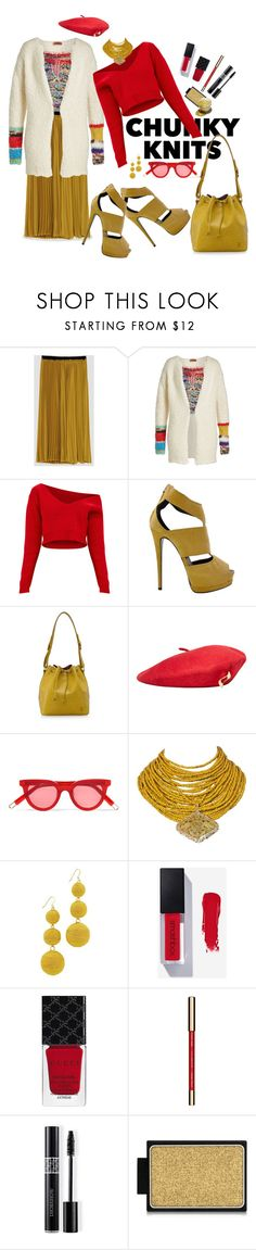 """""""Chunky Knits"""" by marionmeyer ❤ liked on Polyvore featuring Missoni, Giuseppe Zanotti, Louis Vuitton, MANGO, Gentle Monster, Rosantica, Kenneth Jay Lane, Gucci, John Lewis and Christian Dior"""
