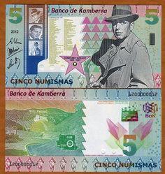 Kamberra, Kingdom, 5 Numismas, 2012, UNC   Humphrey Bogart picclick.com