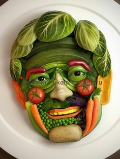 Autumn crafts from vegetables and fruits