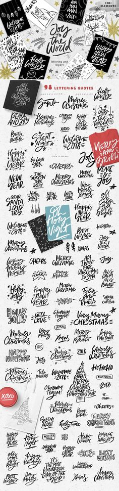 Joy To The World - Christmas Set of lettering & illustrations from FaveteArt - 420+ elements