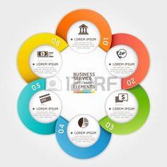 options: Servicio círculo estilo origami moderno. ilustración. se puede utilizar para el diseño del flujo de trabajo, diagrama, opciones numéricas, bandera, incrementar las opciones, diseño web, infografía.