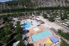 Camping***** La Plage Fleurie - Vallon Pont d'Arc #Camping #Ardèche #Piscine #EspaceAquatique #Gorges