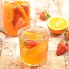 Mellow flavor, refreshing and naturally sweetened with fresh fruits, this Strawberry Orange Refrigerator Iced Tea is a delicious way to hydrate this summer.