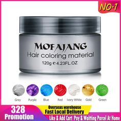 Color Hair Wax Styling Home Hair Salons, Temporary Hair Dye, Hair Wax, Soft Hair, New Hair Colors, Ivory White, Green And Gold, Dyed Hair, Alcohol