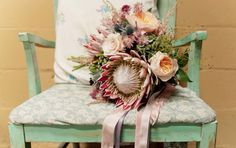 Protea bouquet Www.petalplaydesign.com