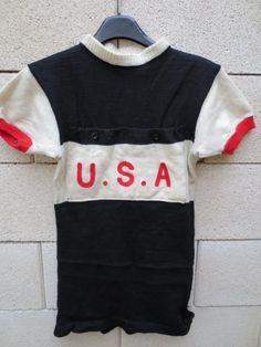 Vintage Maillot Cycliste Porté USA Cycling Worn Shirt 1960 Poches Devant Rare   eBay