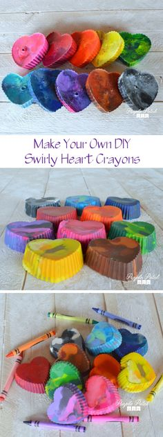 How to make your own swirly heart crayons