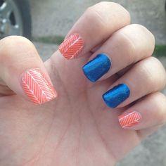 OKC Thunder inspired nails! #jamberry #okc #thunder