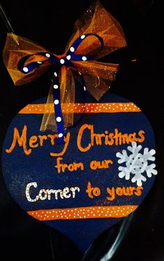 Auburn Tigers Christmas Ornament Door Hanger