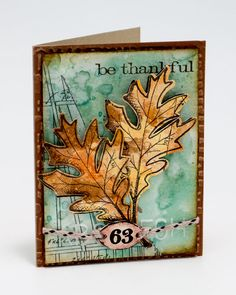 Liquid Pearls Be Thankful Card by Michelle McCosh