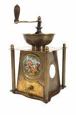 Messing Kaffeemühle mit Motiv Bildnis und Säulen, coffee grinder, moulin á cafè