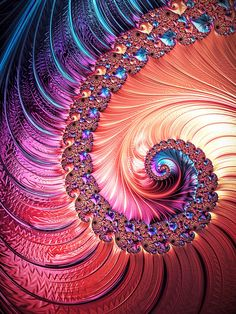 Fractal Digital Art - Beneath The Sea Spiral by Kathy Kelly Art Fractal, Fractal Design, Beneath The Sea, Cross Stitch Kits, Psychedelic Art, Community Art, Sacred Geometry, Diy Art, Art Images