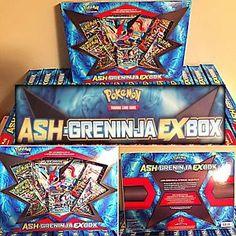 Ash's Greninja EX Box Pokemon Card Collection Box New SEALED Booster Packs | eBay