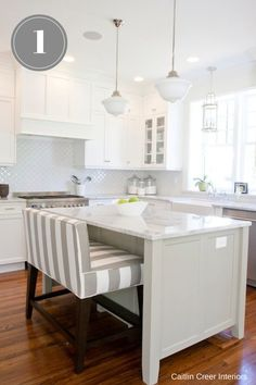 Switch Studio: 4 Easy Ways To Better Your Kitchen. Love the upholstered bench sit