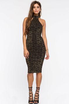 A'GACI | Glitz Abstract Mock Bodycon Dress | #agaci