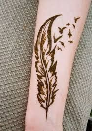 Image result for henna design feather step by step
