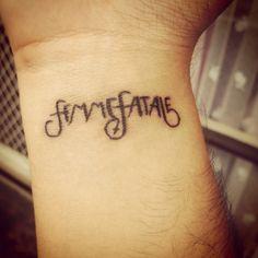 Femme Fatale Wrist Tattoo