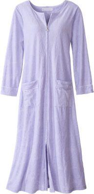 d3249f0291e Eileen West Pamper-Perfect Velour Robe With Full Front Zipper Sleepwear  Women