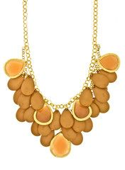 Taupe Jewel Statement Necklace