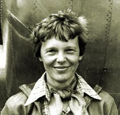 Amelia Earhart; July 24, 1897 – disappeared 1937) was a noted American aviation pioneer and author. Earhart was the first aviatrix to fly solo across the Atlantic Ocean. She wrote best-selling books about her flying experiences (from Wikipedia). Image: http://www.enlomio.com/wp-content/uploads/2012/07/Amelia-Earhart.jpg