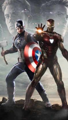 Iron Man with Captain Thor iPhone Wallpaper - iPhone Wallpapers