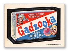 Wacky Packages Topps 1st Series: Gadzooka