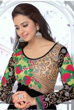Rakul Preet Singh Black Colour Georgette Salwar Kameez