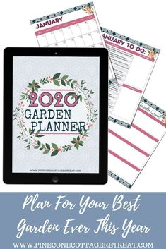 Now is the time to get your flower and vegetable gardens organized for the new year. This garden planner printable is filled with tons of ideas for your garden, making it easy to plan and track your new garden. Flower Garden Planner, Free Garden Planner, Seed Packet Template, To Do Checklist, Garden Organization, Printable Planner, Printables, Goal Planning, Calendar Pages