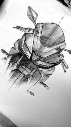 Car Drawing Pencil, Bike Drawing, Pencil Art Drawings, Art Drawings Sketches, Gas Mask Art, Bike Sketch, Anime Drawing Styles, Amazing Street Art, Car Design Sketch