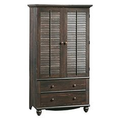 Awesome Sauder Harbor View Armoire - Antiqued Paint