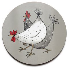 Thick and made to the very best quality, this durable Wacky Chicken tablemat by Jersey Pottery is perfect for everyday use.