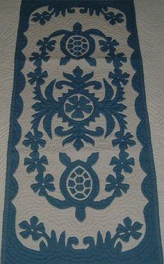 Hawaiian quilt wall hanging table runner 100% hand quilted/hand appliqued Hawaiiana Hawaiian Quilt Shop http://www.amazon.com/dp/B0086DO4T6/ref=cm_sw_r_pi_dp_PSxOwb19VR2Z1
