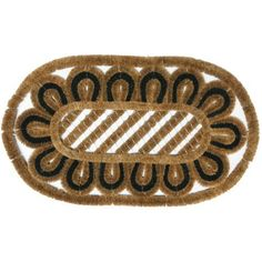 """""""Gorgan"""" Outdoor Scraper Door Mat - 18"""" x 30"""" Coco Coir Mat by Rubber-Cal. $44.90. A shoe scraper mat made with 100% natural coco fiber for eco-friendliness and durability! This """"Gorgan"""" boot scraper naturally scours mud and snow from shoes and protects your home floors from dirt and water damage. Its cheerful design and subtle coloring perfect is perfect for use in an outdoor entryway! Shake or brush for easy cleaning."""