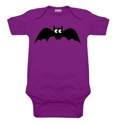 Baby Bat One Piece Purple from My Baby Rocks goth & punk baby clothes and gifts www.punkbabyclothes.net