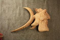 Fun carved fish wood carving deep sea by TreeWizWoodCarvings
