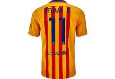 Kids Nike Neymar Barcelona Away Jersey for 2015/16. Hot at www.soccerpro.com right now!