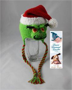 Grinch Christmas Hat Crochet Pattern