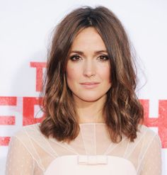 Pretty Rose Byrne Hair--love this hair and makeup