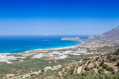 Falasarna bay, with five consecutive beaches. Falasarna has been awarded as the best beach in Crete and one of the ten best in Europe. Best Beaches In Europe, Greek Islands, Greece Travel, Photo S, Crete Chania, In This Moment, Mountains, Kos, Water