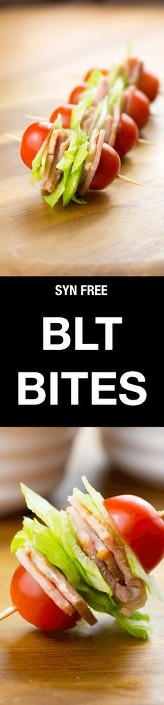 These Syn Free BLT Bites are a perfect Slimming World friendly snack when you just fancy something to nibble on, and they couldn't be easier to make! Diabetic Snacks, Healthy Snacks, Healthy Eating, Healthy Recipes, Syn Free Snacks, Breakfast Healthy, Keto Recipes, Slimming World Snacks, Slimming World Recipes Syn Free