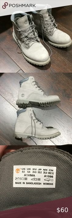 Grey Timberland Boots Womens Pink Size 8 Mens Field Winter