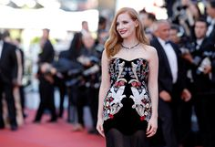 "Jury member Jessica Chastain attends the ""Ismael's Ghosts (Les Fantomes d'Ismael)"" screening and Opening Gala during the 70th annual Cannes Film Festival at Palais des Festivals on May 17, 2017 in Cannes, France."