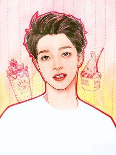 Fan art cr.twt @comareizouko Kpop Drawings, Face Sketch, Bts Aesthetic Pictures, First Art, Dope Art, Tumblr Wallpaper, Kpop Fanart, Cute Anime Guys, Asian Art